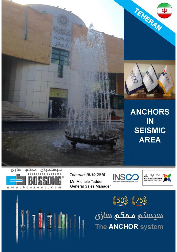 ANCHORS IN SEISMIC AREA - Bossong CONFERENCE in Teheran IRAN