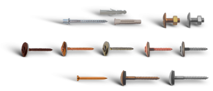 V Bossong Screws Cooper and inox for tilling